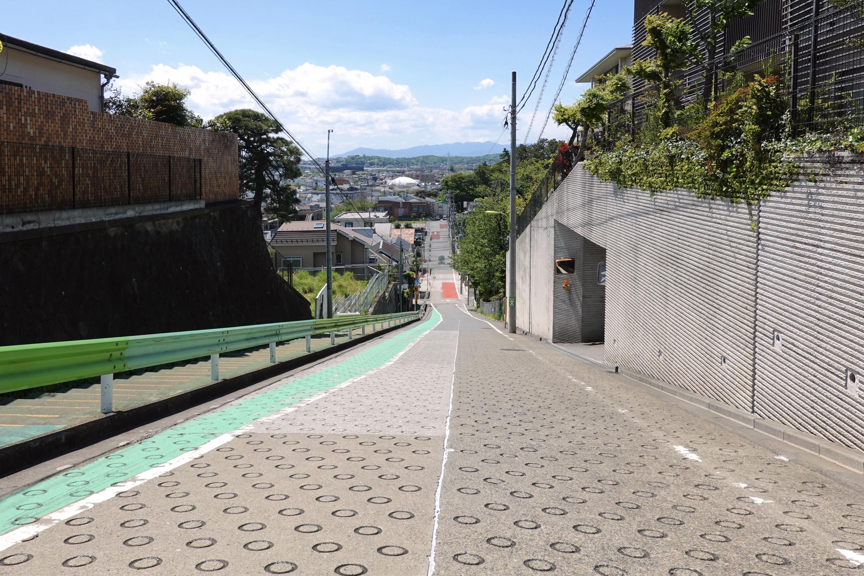 岡本の富士見坂(岡本3丁目の坂道)